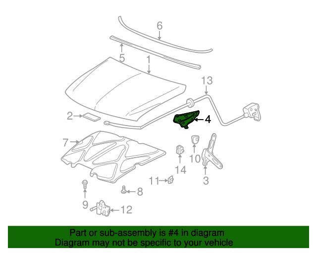 hinge assembly   gm 12472770