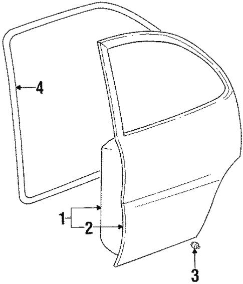 Door Components For 2000 Chevrolet Prizm