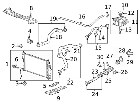 [NRIO_4796]   Radiator & Components for 2011 Buick Regal | GMPartsNow | Buick Engine Cooling Diagram |  | GMPartsNow