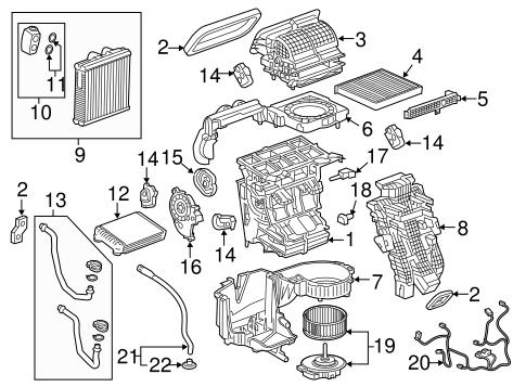 Oem 2018 Cadillac Xt5 Evaporator Heater Components Parts