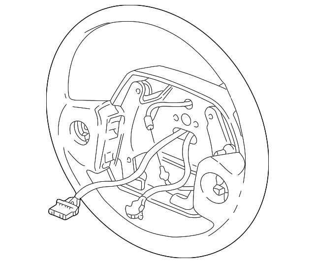 1998 2002 Dodge Steering Wheel 5fl421x9ad