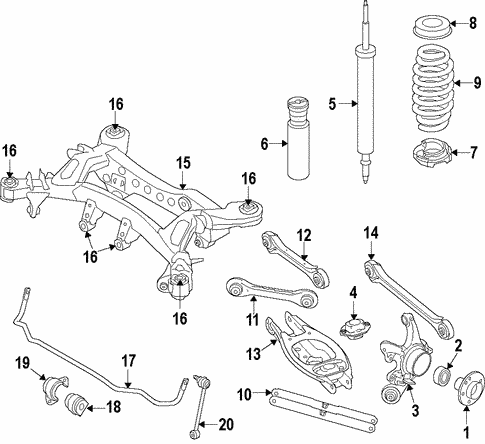 Rear Suspension for 2014 BMW 328d xDrive #0
