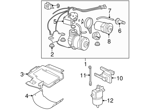 ride control components parts for 2006 buick terraza | gm ... 2006 buick terraza engine diagram