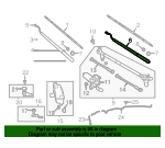 Arm Assembly - Windshield Wiper No 1 - Nissan (28881-9FV0A)