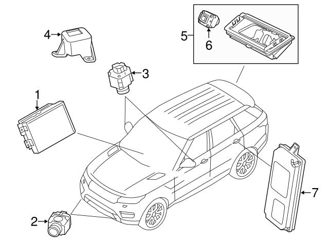 2016 2018 land rover side camera holder lr070577 jaguar parts direct Range Rover Spark Plug