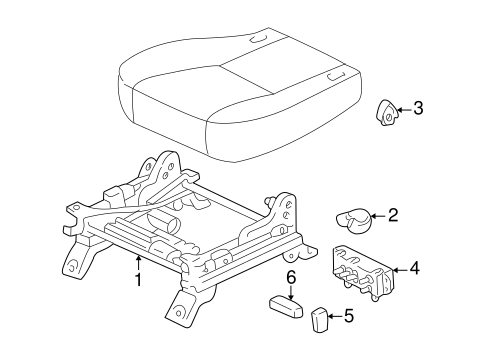 Tracks Components For 2001 Toyota Sienna