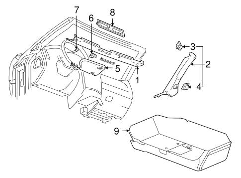 Oem 2004 Cadillac Xlr Interior Trim Roof Parts