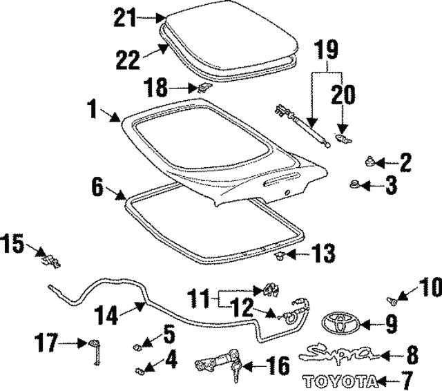 Genuine Toyota Molding 75573-14210
