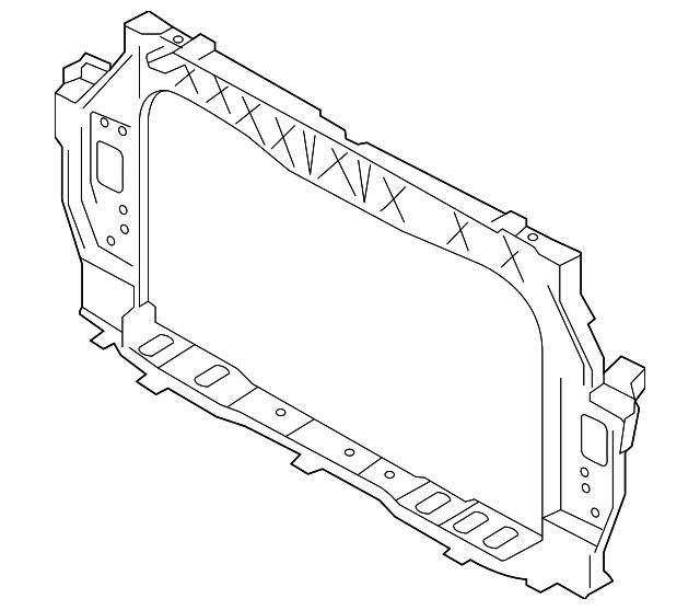2012 2014 kia rio radiator support 64101 1w001 raceway kia parts 2014 Forte LX radiator support kia 64101 1w001