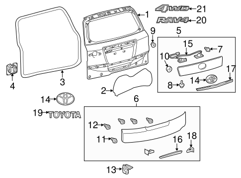 BODY/DOOR & COMPONENTS for 2011 Toyota RAV4 #3