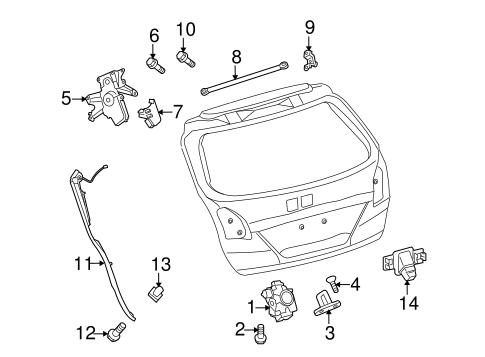 BODY/LOCK & HARDWARE for 2015 Toyota Venza #3