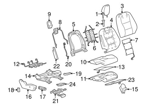 Oem 2010 Chevrolet Camaro Passenger Seat Components Parts