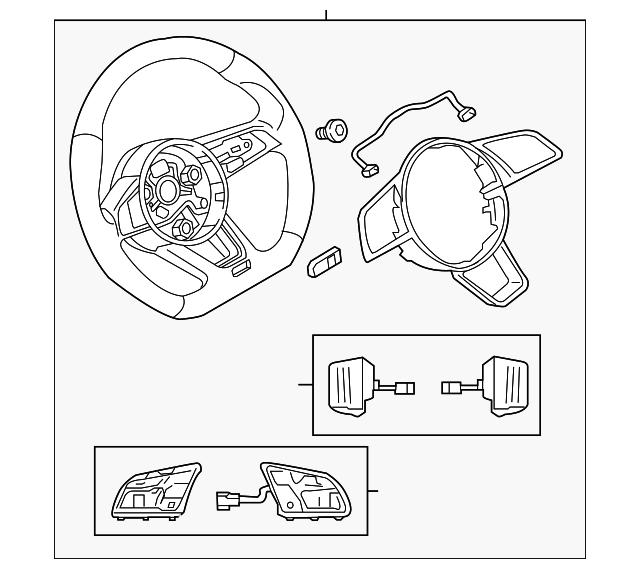 Audi Steering Wheel (8W0-419-091-DE-INU) For Sale