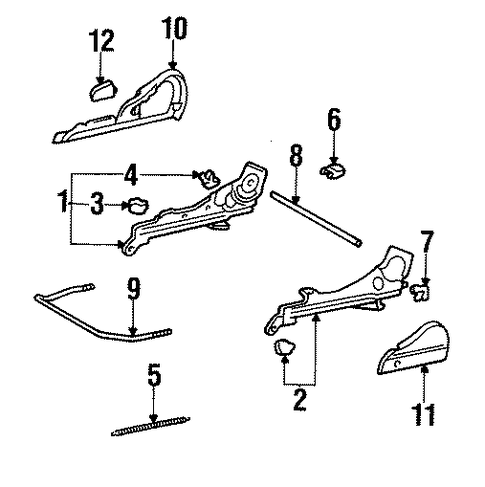 BODY/TRACKS & COMPONENTS for 1998 Toyota Tercel #1