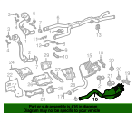 Exhaust Muffler - Mercedes-Benz (205-490-06-35)