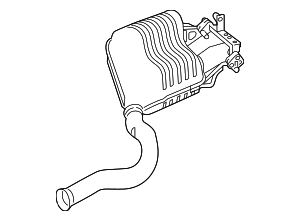 Exhaust Muffler - Mercedes-Benz (205-490-07-35)