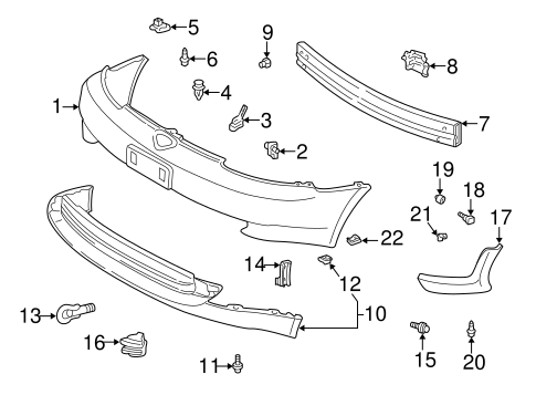 BODY/BUMPER & COMPONENTS - FRONT for 2000 Toyota Echo #1