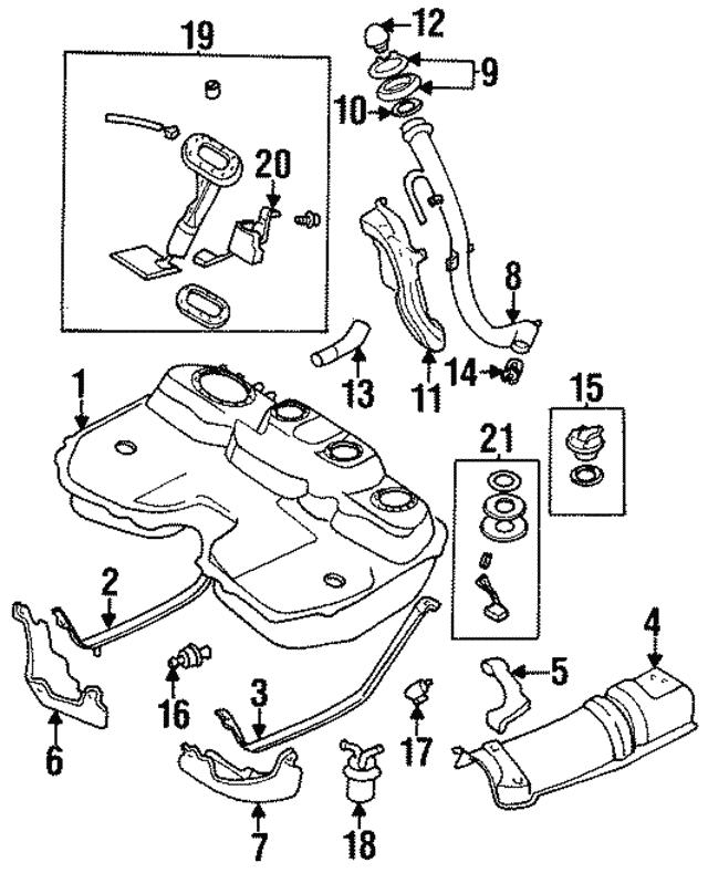 1997 1999 Subaru Legacy Fuel Pump Assembly 42021ac121