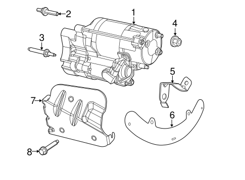 Starter Scat together with Location Of Oil Filter On 2014 Ram 1500 likewise Aston Martin Vantage Wiring Diagram besides 72 Dodge Charger in addition Rear Suspension Scat. on 2013 dodge challenger accessories