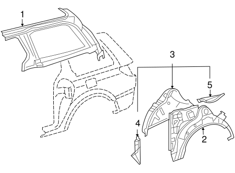 BODY/INNER STRUCTURE for 2010 Toyota Sienna #1