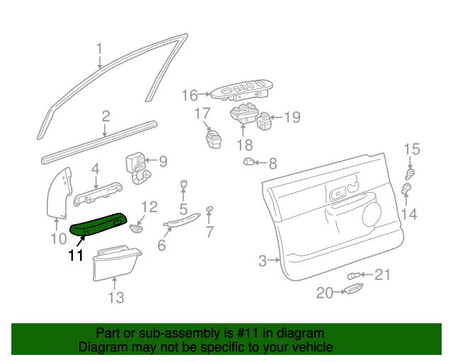 armrest ford 3w1z 5424140 aae silver state ford parts. Black Bedroom Furniture Sets. Home Design Ideas
