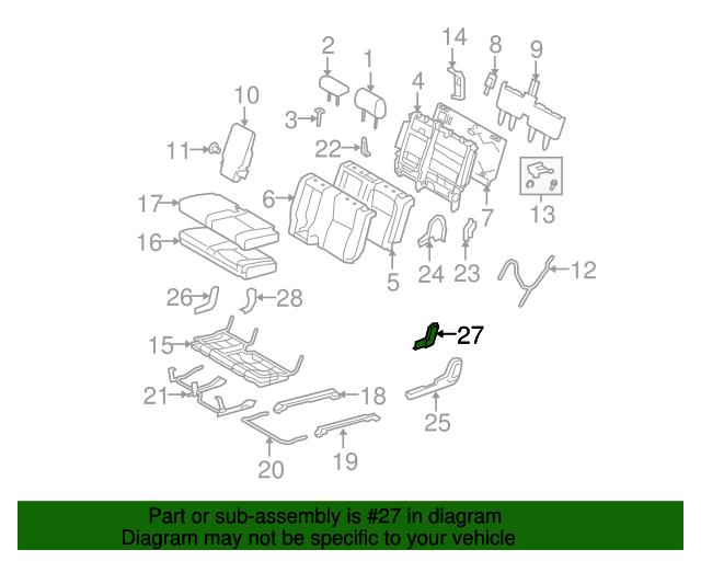 TOYOTA Genuine 71829-0C010-B0 Seat Cushion Molding