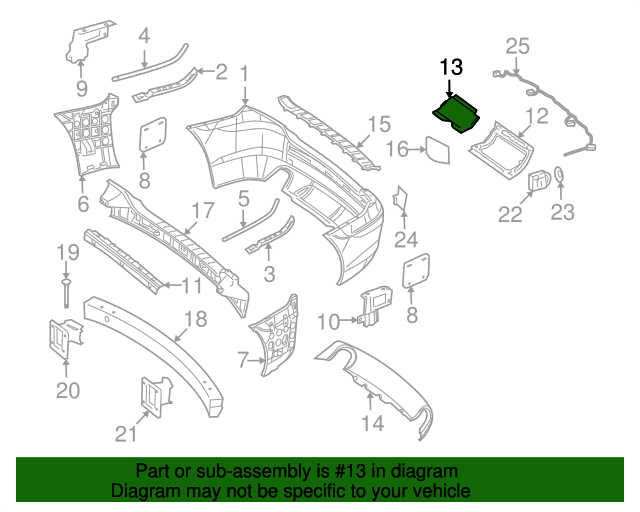 Bumper joint cover mercedes benz 251 885 03 23 9999 for Aftermarket mercedes benz parts