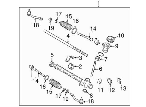 steering gear & linkage for 2011 kia rio5 #3