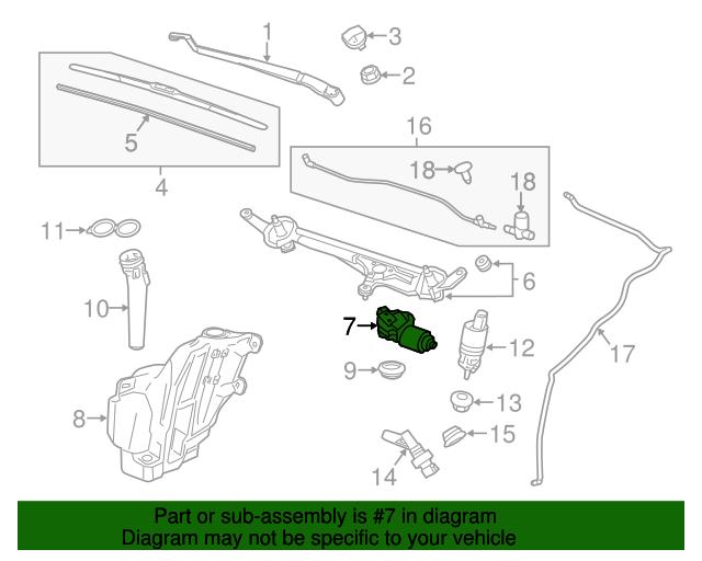 GM Genuine Parts 26228609 Windshield Wiper Motor