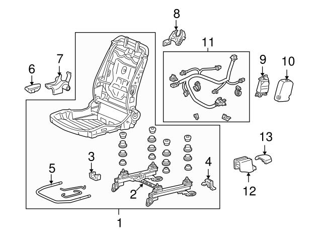 Honda Genuine 81106-TA0-A01ZC Seat Foot Cover