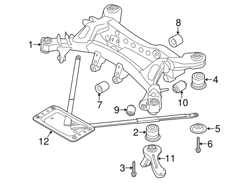Suspension Mounting For 2015 Bmw X1