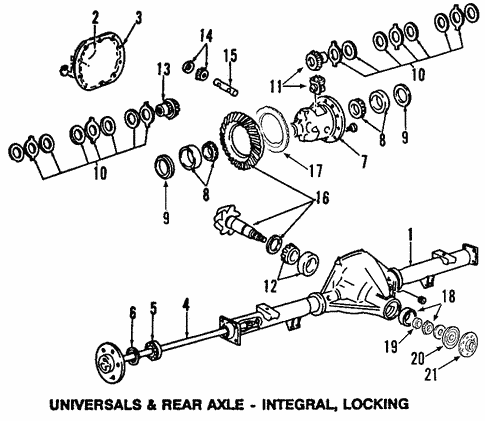 Universals & Rear Axle/Differential for 2007 Ford F-150 #1