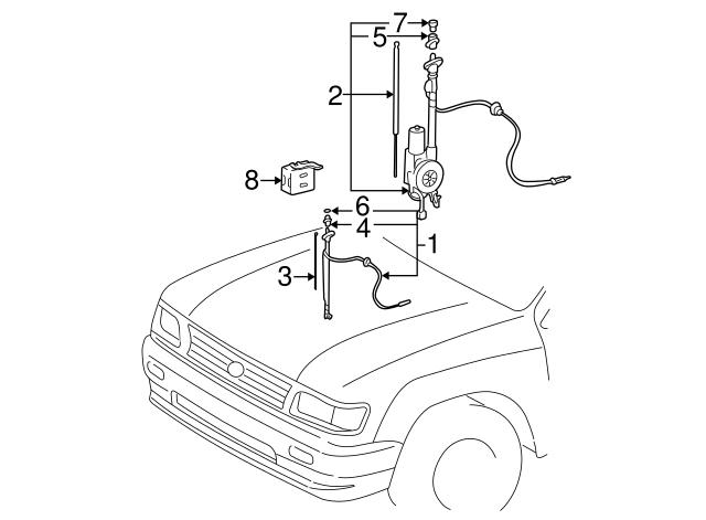 1995 2000 Toyota Tacoma Antenna Relay 85914 04010