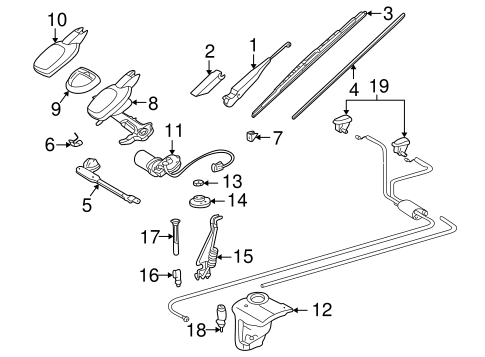 Wiper & Washer Components for 1995 Mercedes-Benz C 280 #0