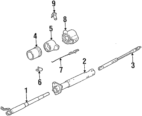 Steering Column Components For 1984 Chevrolet S10 Blazer Gm Parts Online