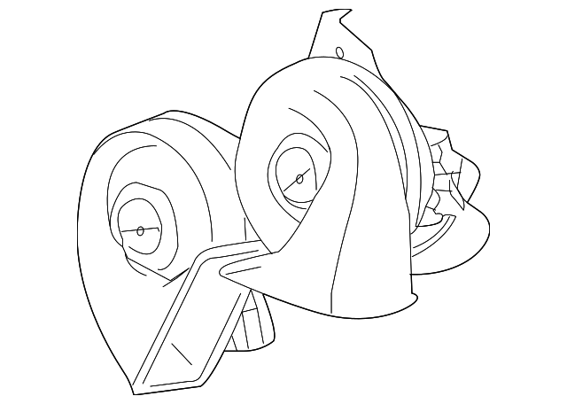2001 2011 Ford Ranger Horn 2l5z 13832 Ba