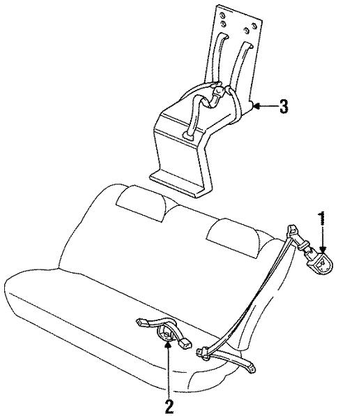 Rear Seat Belts For 1996 Toyota Corolla