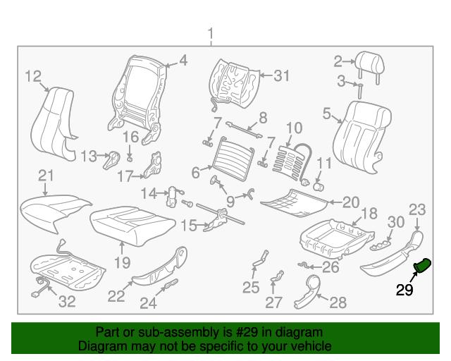 2000 2005 Saturn Seat Switch 22677355