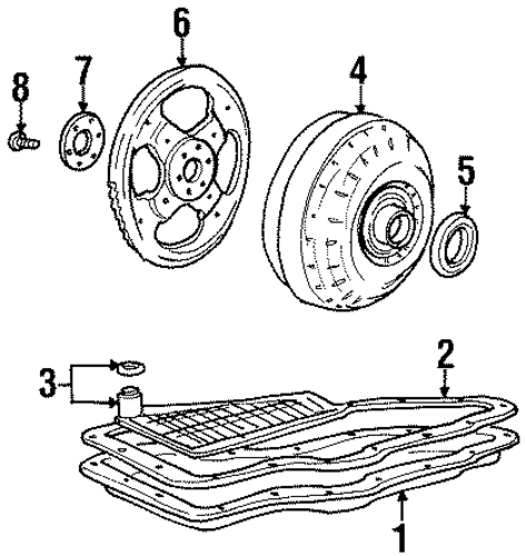 transaxle parts for 1998 ford windstar