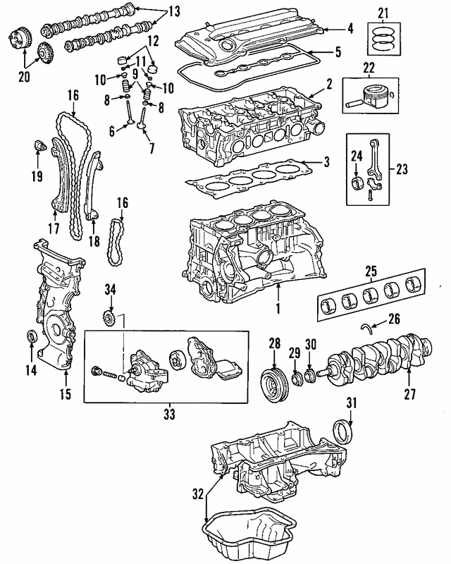 Genuine Toyota Rav4 Cylinder Head Gasket 11115-28023