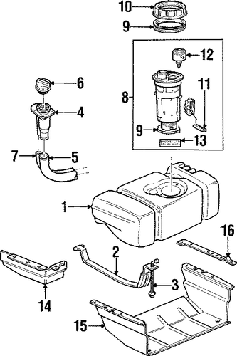 fuel system components for 2001 jeep cherokee