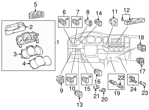 ELECTRICAL/AIR BAG COMPONENTS for 2015 Toyota Tacoma #2
