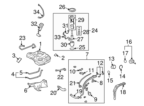 FUEL SYSTEM/FUEL SYSTEM COMPONENTS for 2013 Toyota Matrix #1