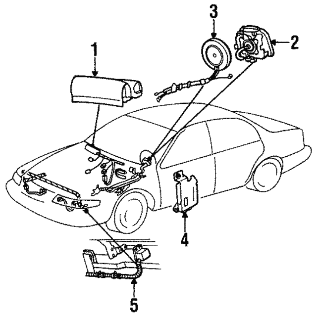 1995 1997 Lincoln Continental Diagnostic Unit F6oz14b215ab