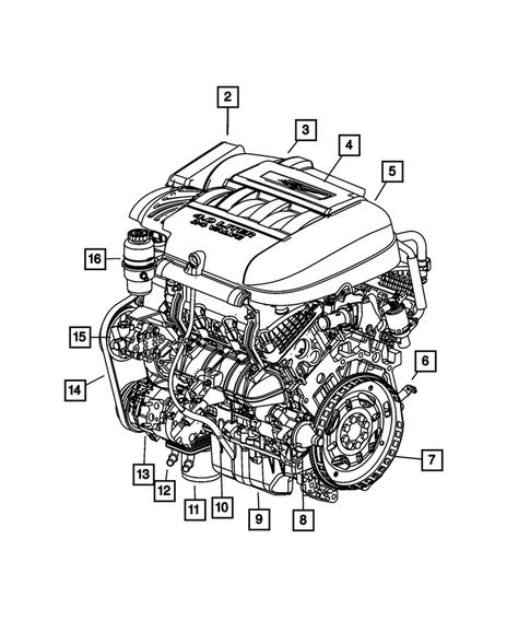 Mopar 68002252AA Crankcase Cover Gasket