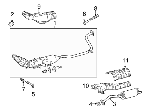 Exhaust Components for 2012 Toyota Prius Plug-In #0