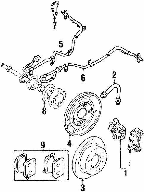 Anti Lock Brakes For 1997 Mitsubishi Montero
