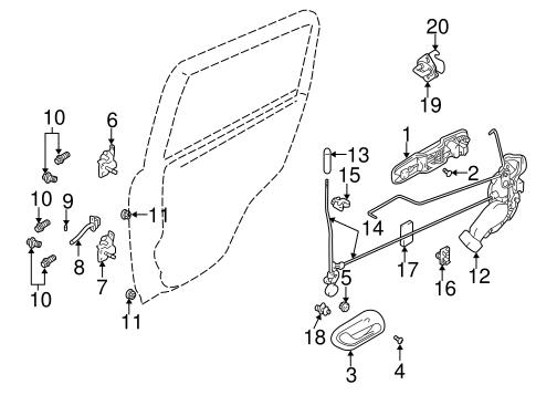 Lock Hardware For 2003 Chevrolet Tracker Gm Parts Online