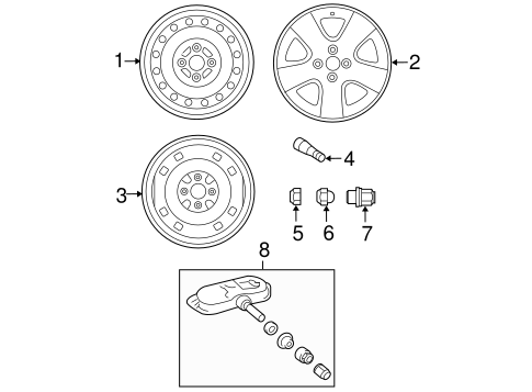 FRONT SUSPENSION/WHEELS for 2008 Toyota Yaris #1