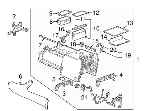 Oem 2015 Gmc Sierra 2500 Hd Center Console Parts